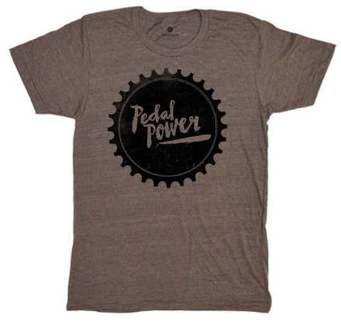 Pedal Power Sprocket Tri-Coffee T-Shirt