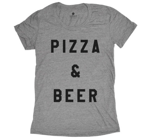 Pizza and Beer - Womens - Grey