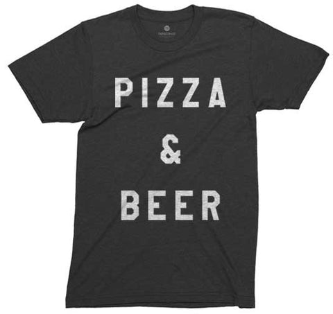 Pizza and Beer - Heather black