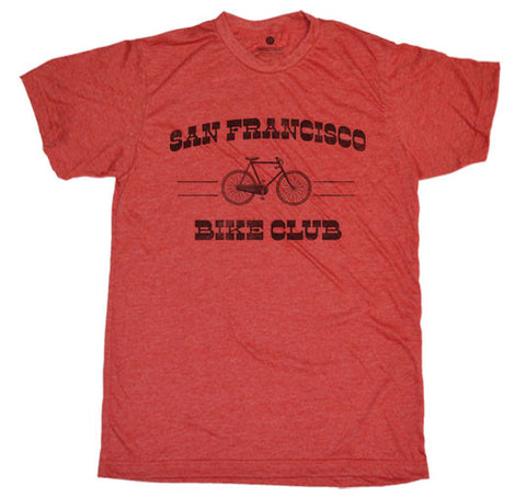SF Bike Club Heather Red T-Shirt