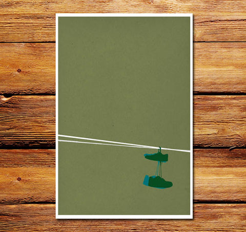 Sneakers On A Wire Poster