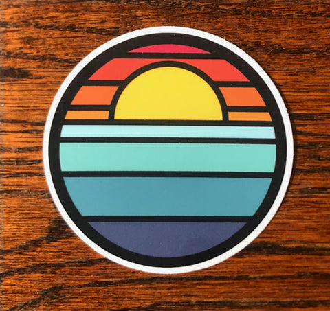 Sundown Sea - All weather vinyl sticker
