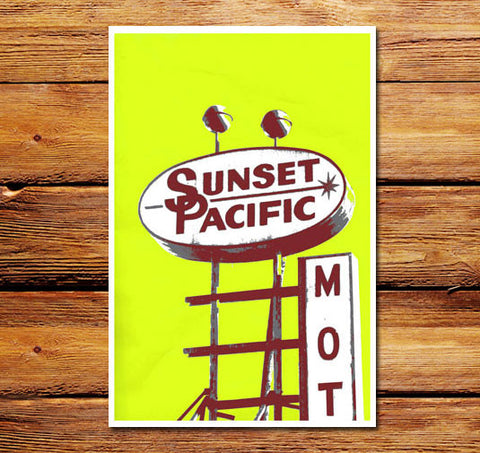 Sunset Pacific Motel Poster