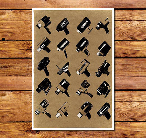 Super 8 Collection Brown Poster