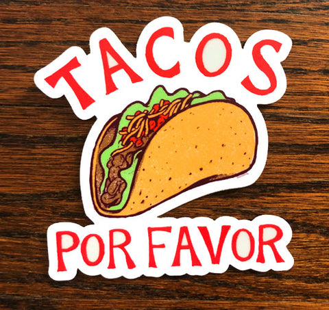Tacos! - All weather vinyl sticker
