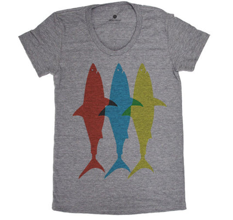 Three Sharks - Womens