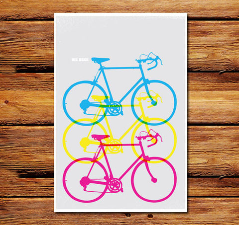 We Bike Vertical Poster