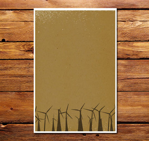 Palm Springs Windmills Poster