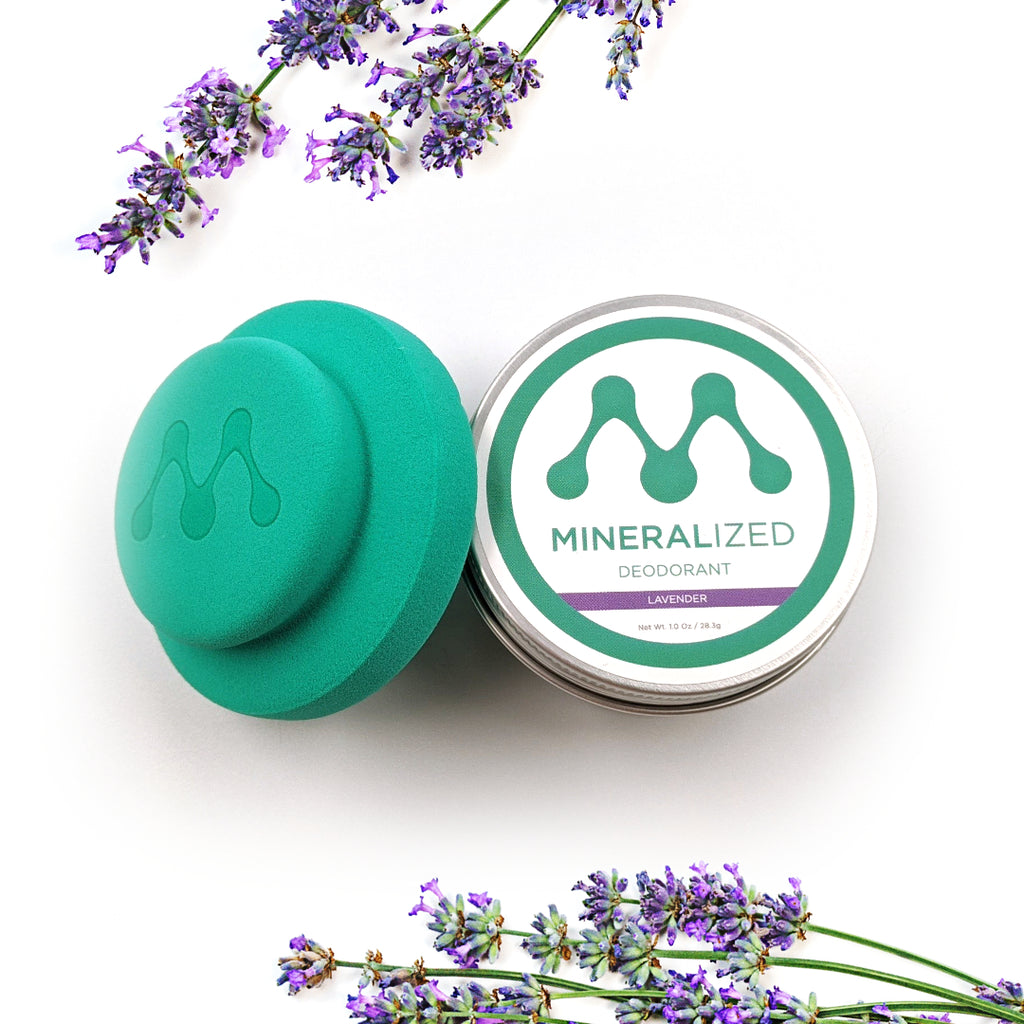 Lavender scented Mineralized deodorant.