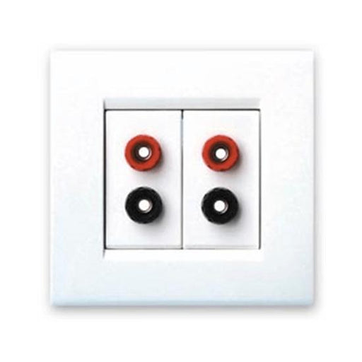 QED WM11 Twin Speaker Wall Plate - 4mm - Tech4