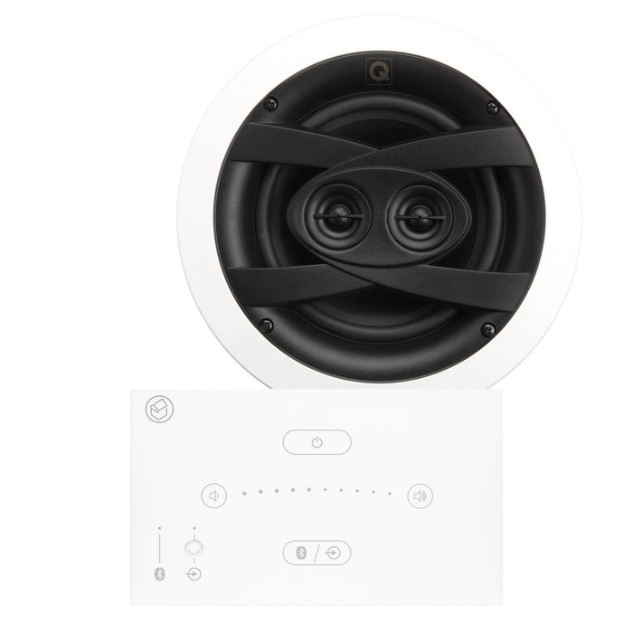 "Systemline E50 Bathroom Bluetooth Ceiling Speaker System inc. 6.5"" Waterproof Stereo Ceiling Speaker - Tech4"