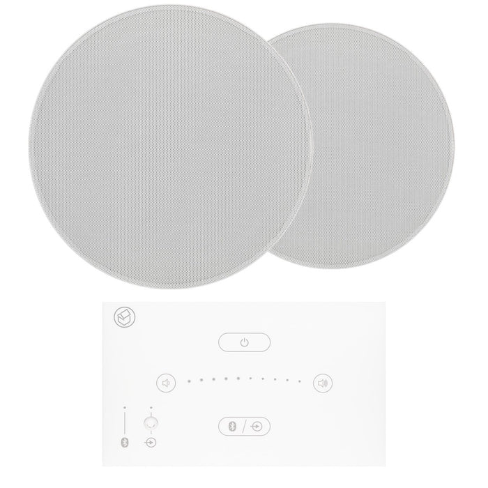 "Systemline E50 6.5"" Bluetooth Ceiling Speaker System - Gloss White - Tech4"