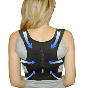 Back Lumbar Shoulder Corrector with Magnet Stone