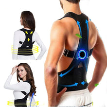 Load image into Gallery viewer, Lumbar Support Adjustable Magnetic Posture Brace