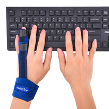 Load image into Gallery viewer, Adjustable Blue Finger Splint Posture