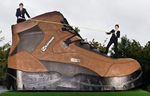 World Records on Foot - Hiking boots for Gulliver finally make production