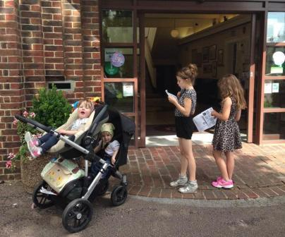 A Great Day Out and So Say All of Them! - Four cousins starting the Petersfield Trail