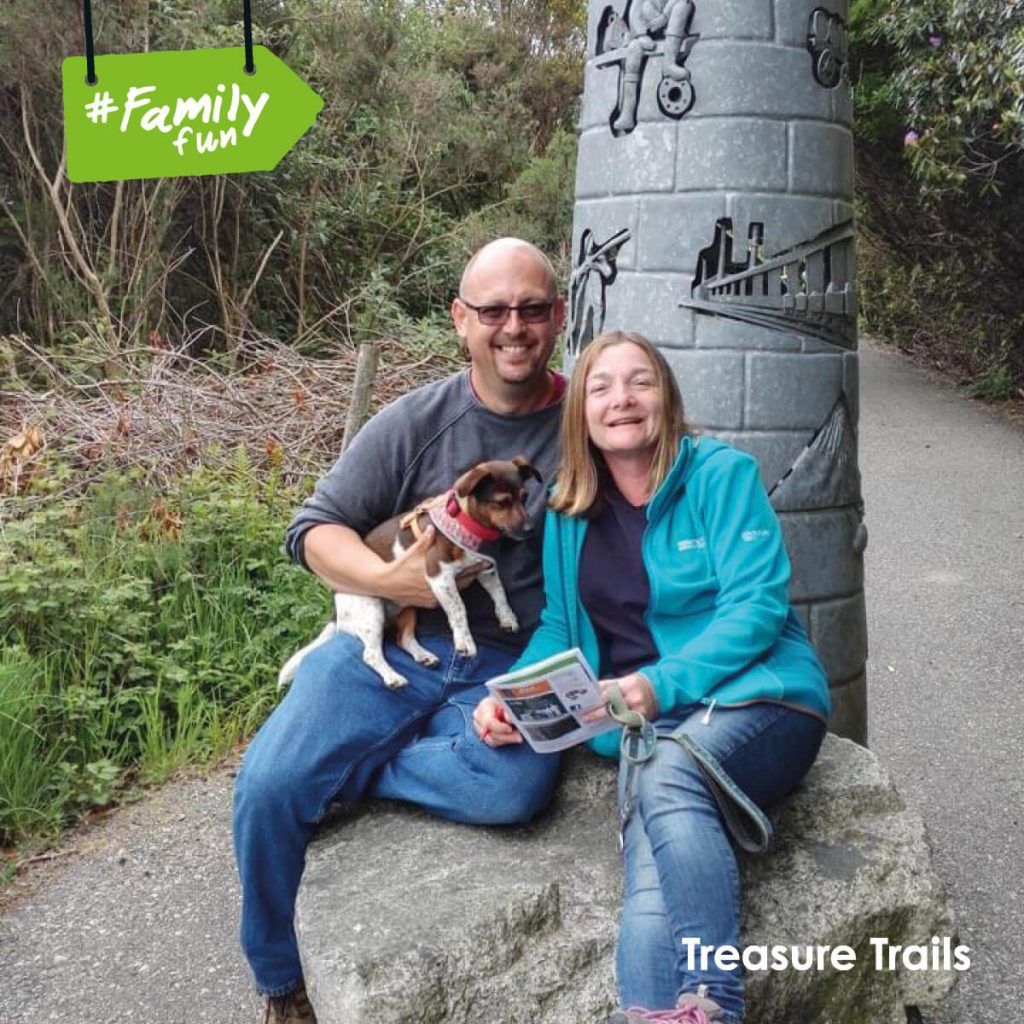 Kayna – Our Tech guy Tris with his wife and pooch, resting at a clue near St Austell.