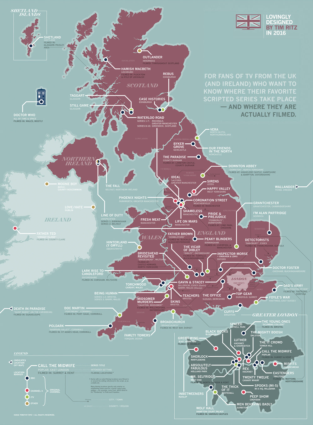 The Great British Television Map - whole of the UK is covered