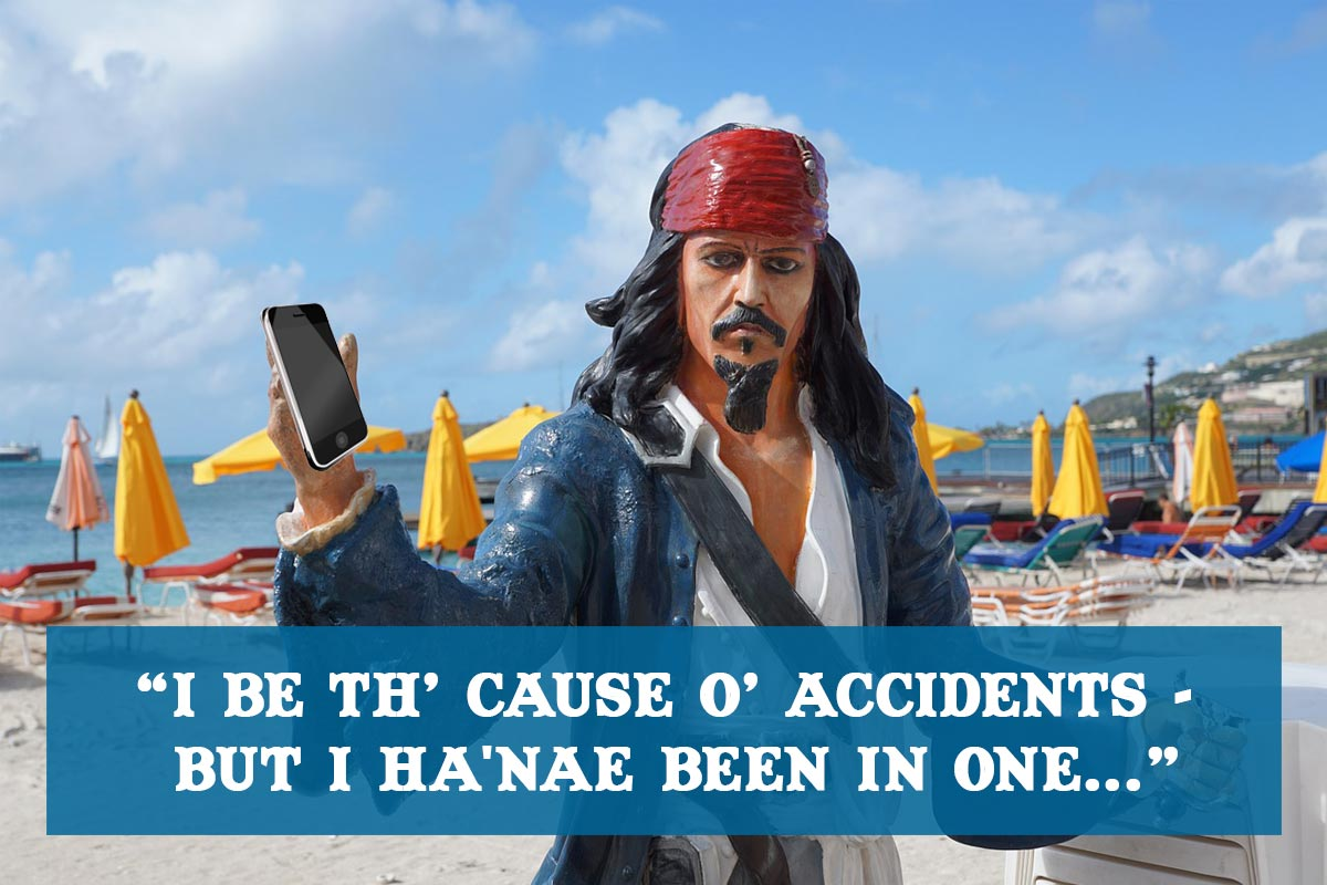 Talk Like a Pirate Day 2016 - have you been in an accident?