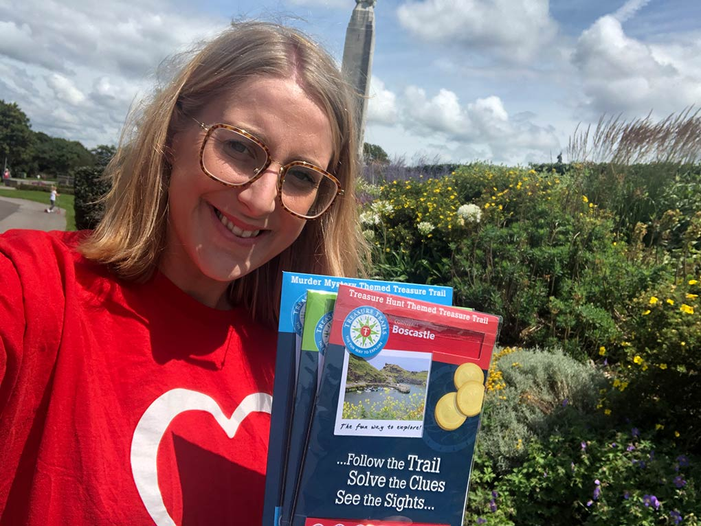 Sara Johnson, Partnership Manager at the British Heart Foundation, is super excited to be partnering with Treasure Trails.