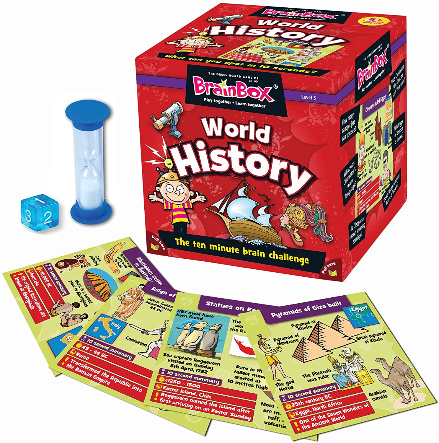 Our TOP Five… History Books (for kids) - BrainBox - World History by The Green Board Game Co.