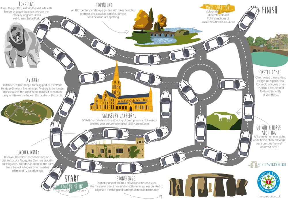 The Visit Wiltshire Car Treasure Trail Game