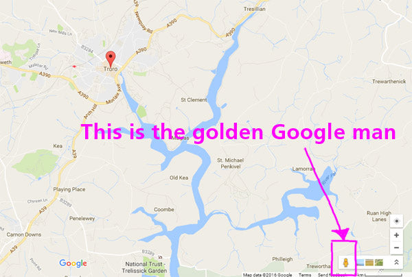 The Impossible Question. Is that the golden Google man I spy?
