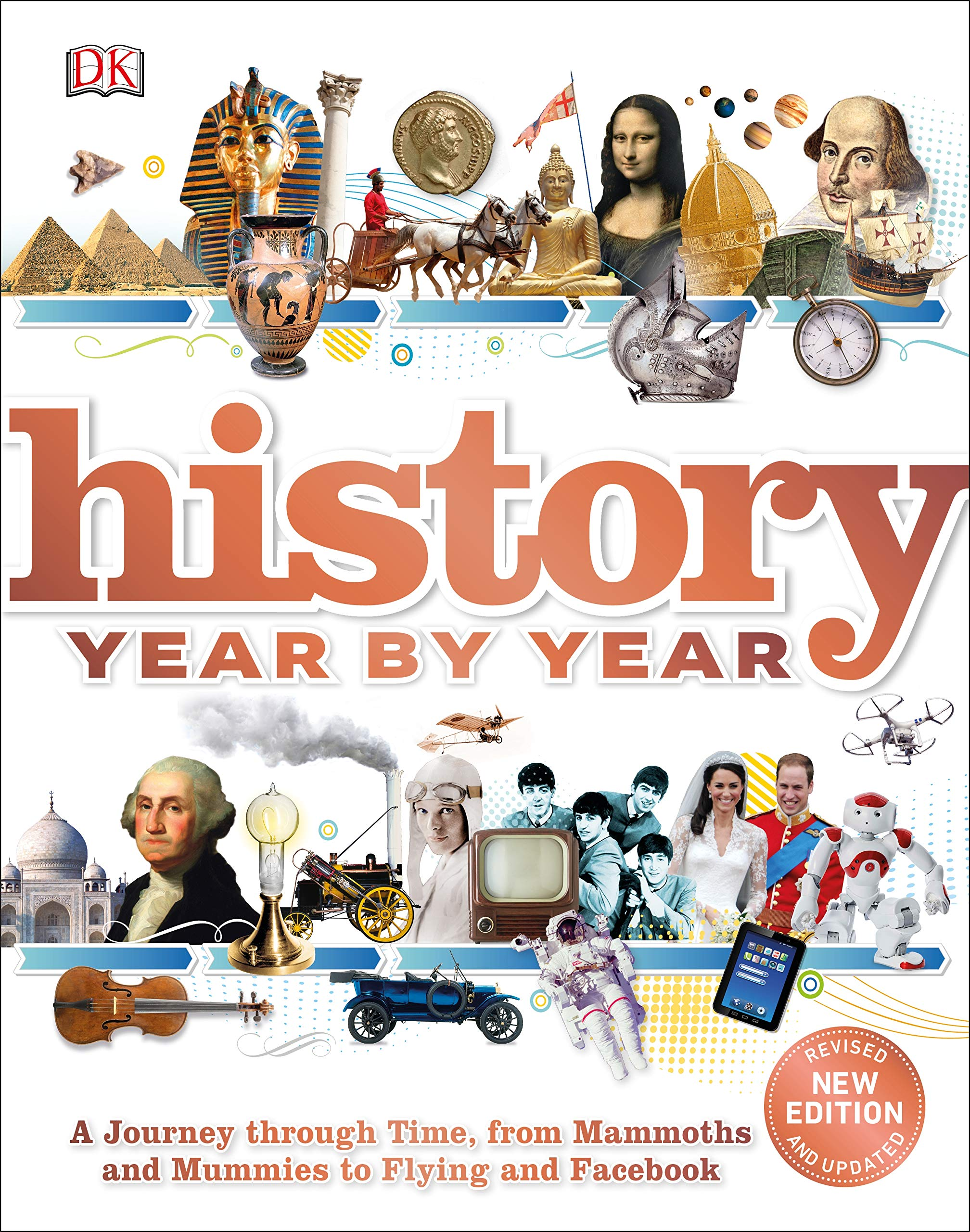 Our TOP Five… History Books (for kids) - History Year by Year: A journey through time, from mammoths and mummies to flying and facebook by DK