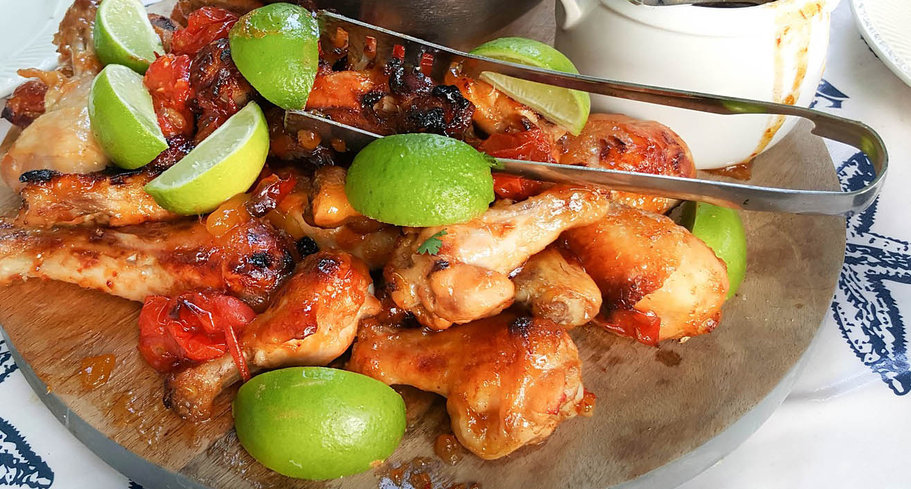 TT Strange Times - A Staycation Summer - Jerk chicken - not just a derogatory term but a delicious spicy Caribbean recipe. Bring on the burn!