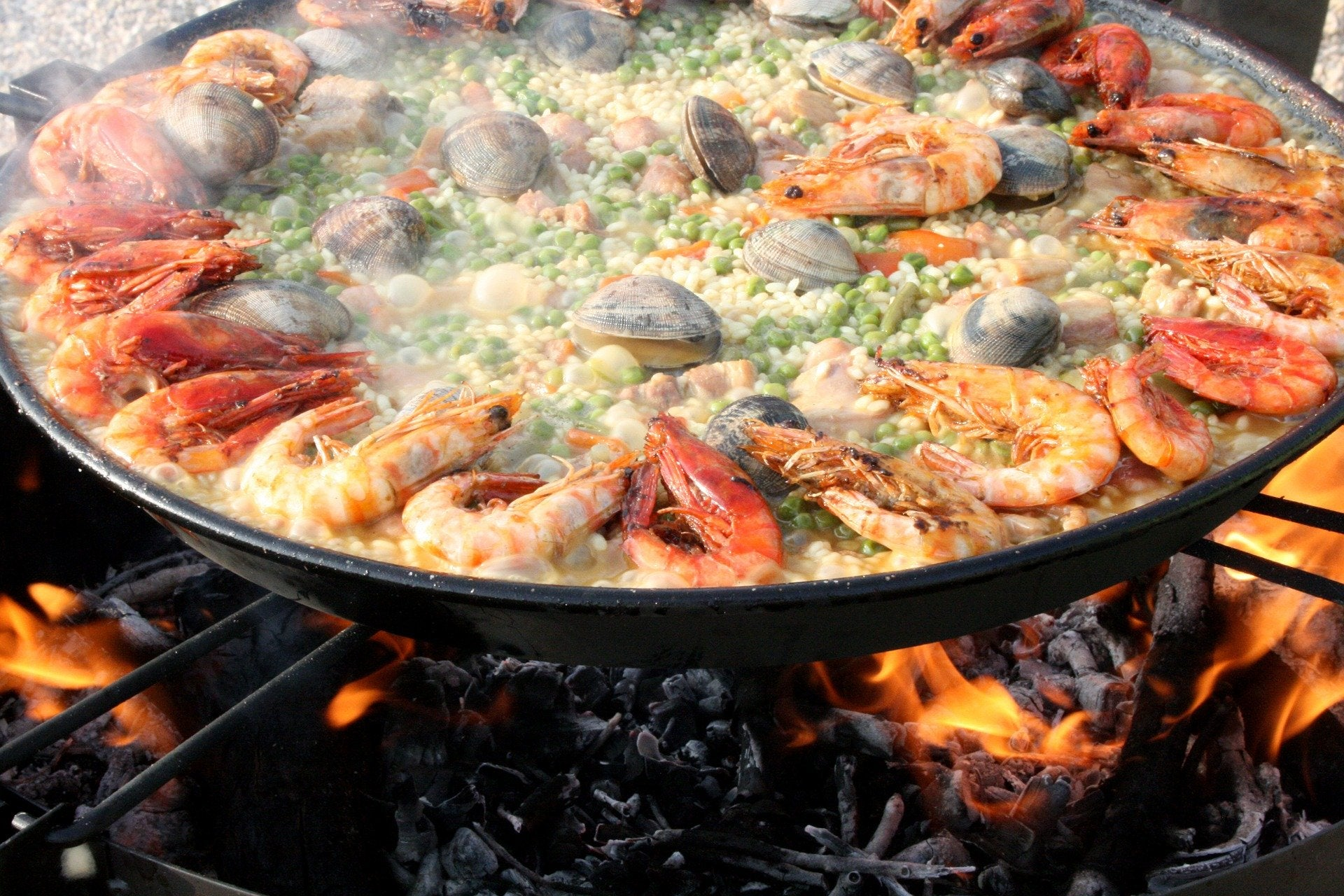 TT Strange Times - A Staycation Summer - Yum! A traditionally pan-cooked paella...