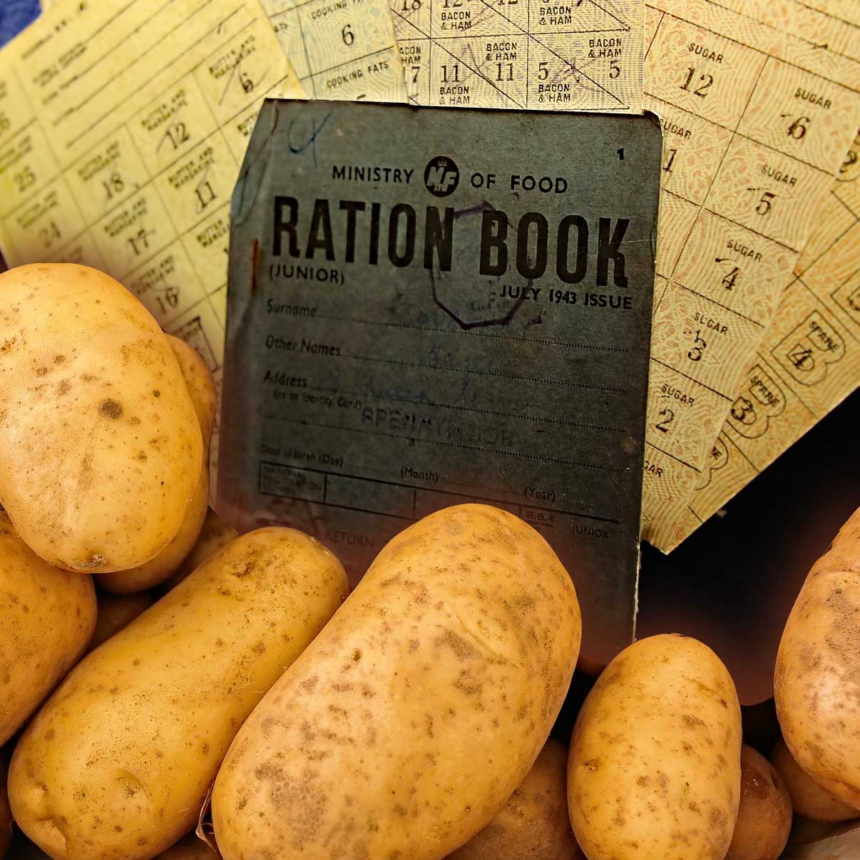 Getting YUMMY With It... Eating in World War 2 - Rationing was in force to some extent until 1954.