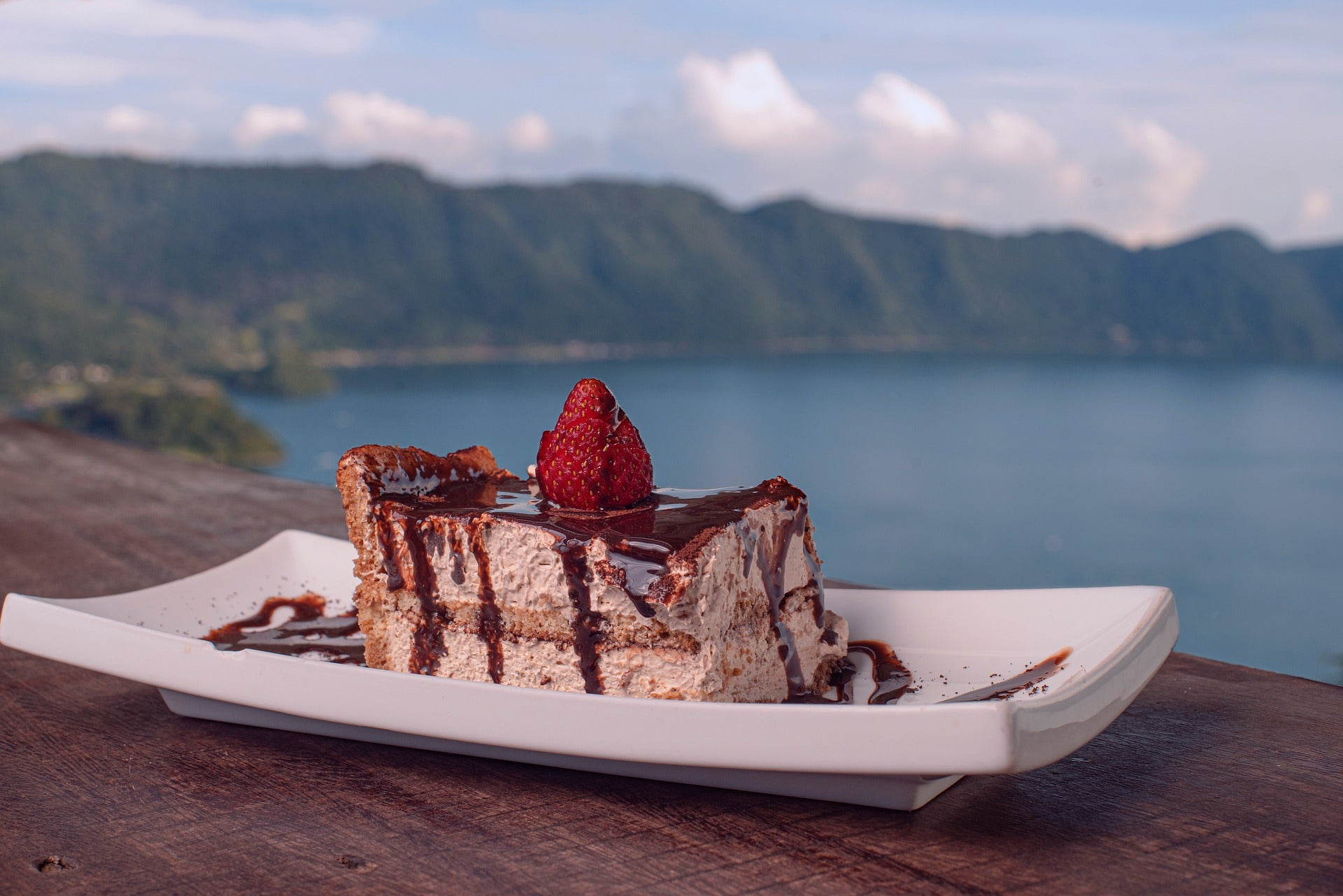 TT Strange Times - A Staycation Summer - A tiramisu with a view... Or just have the tiramisu at home if a view isn't available.