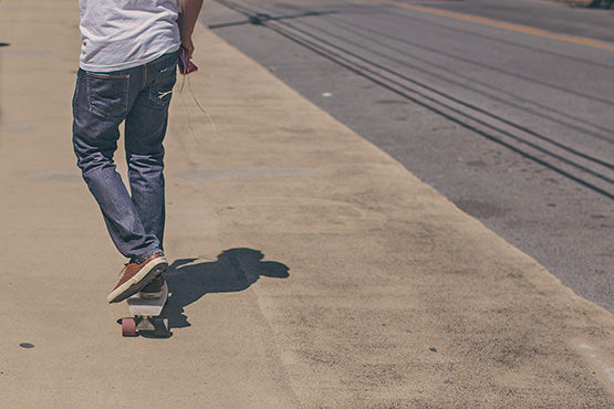 Walk More and Eat Less - get out and walk or skateboard more