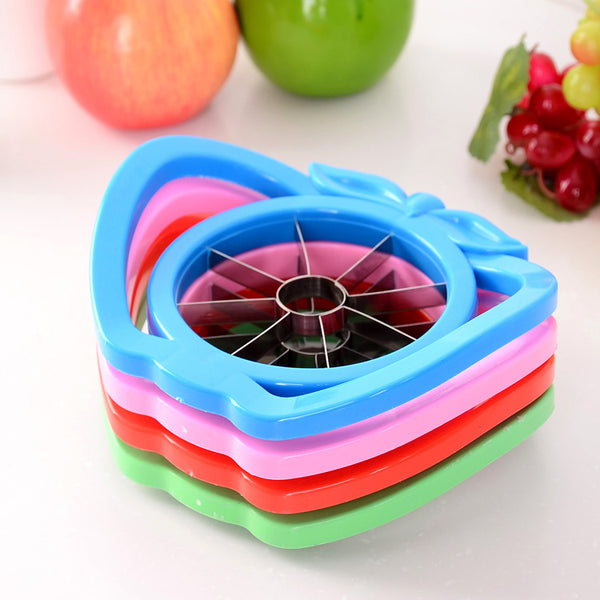 New Kitchen assist apple slicer Cutter Pear Fruit Divider Tool Comfort Handle - AVstuff