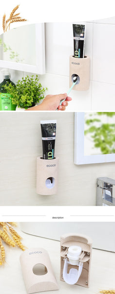 Automatic Toothpaste Dispenser Dust-proof Toothbrush Holder Toothpaste Squeezers ECO FRIENDLY - AVstuff
