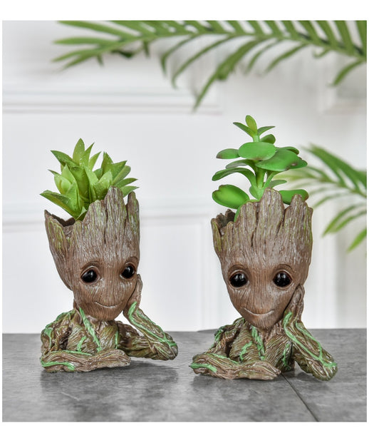 Flower Pot Baby Groot Flowerpot Planter Action Figures Tree Man Pen Holder Creative Garden Flower Planter Pot - AVstuff