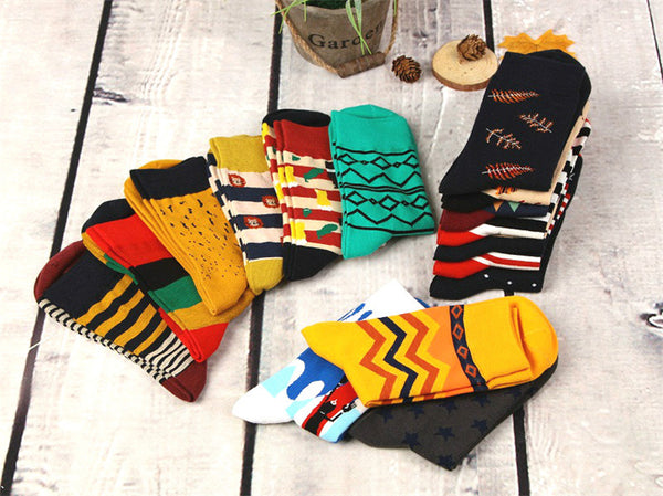 12pairs/lot Colorful Casual Happy Socks High Quality Cotton - AVstuff