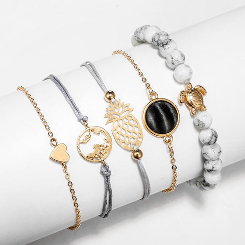 5Pcs/ Set Cute Bohemian Bracelet
