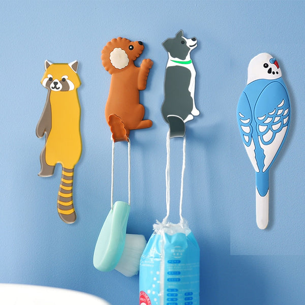 Lovely animal Fridge Hook Key Wall Crochet Holder Removable Kitchen Hooks - AVstuff
