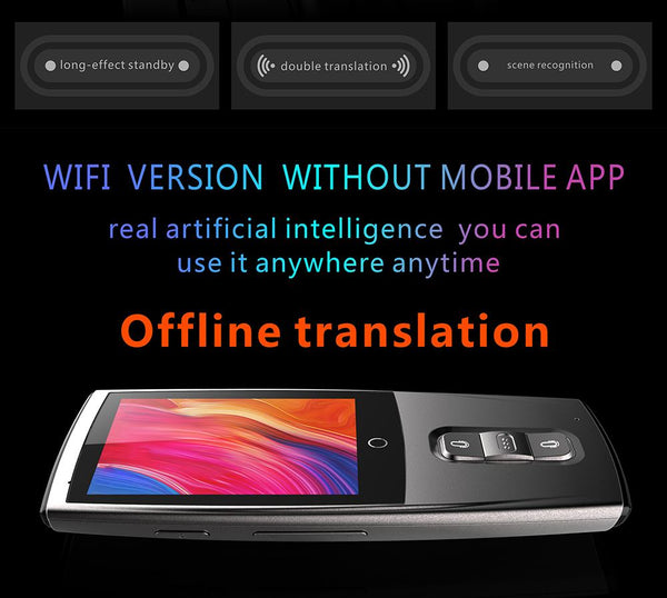 LEORY WIFI Multi Languages Portable Instant Pocket Voice Translator - AVstuff