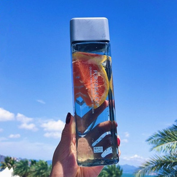 Water Bottle Portable Transparent Bottle Fruit Juice Leak-proof ECO FRIENDLY - AVstuff