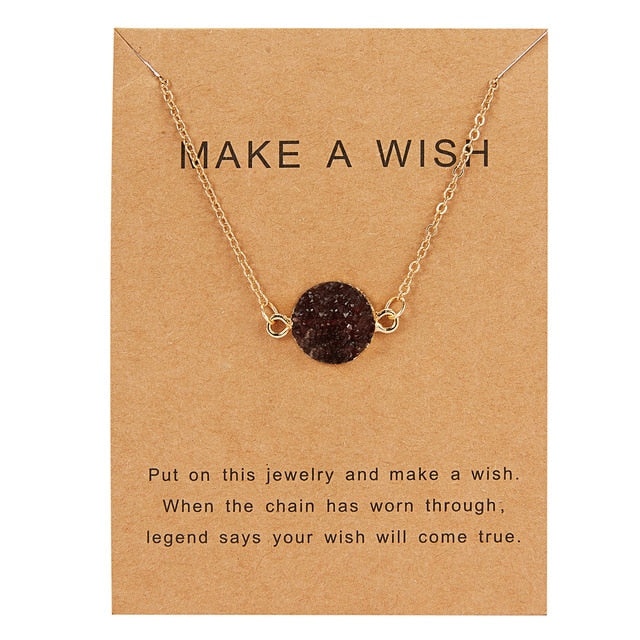 MAKE A WISH Resin Pendant Necklace - AVstuff