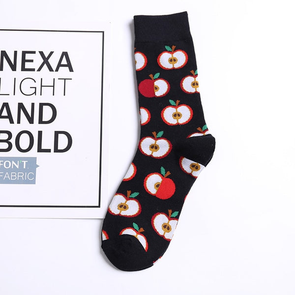 Happy socks funny combed cotton
