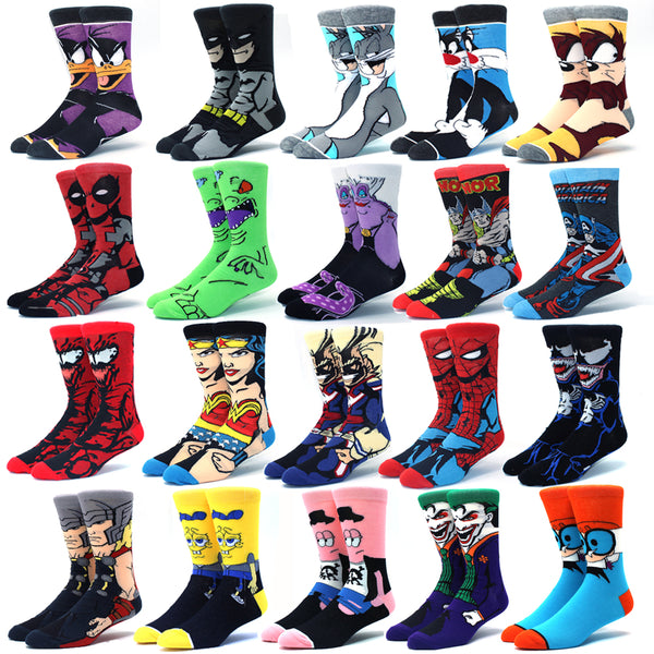 Anime funny socks hip hop personality anime socks cartoon fashion high quality