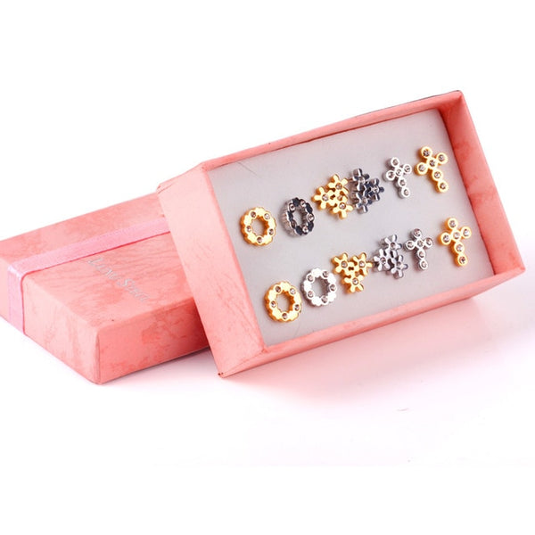 6 Pair/Box Cute Earrings Set - AVstuff