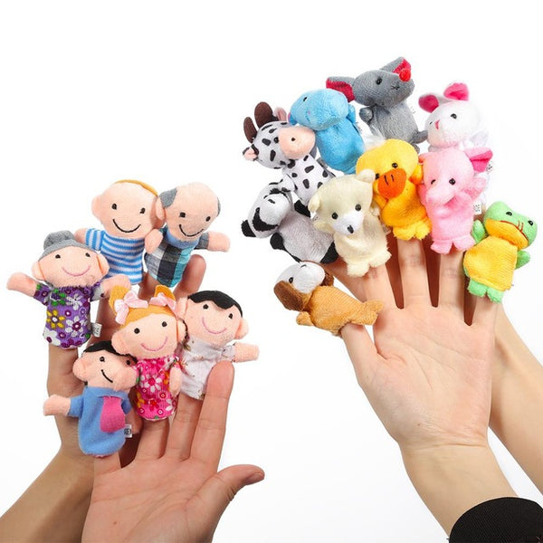 10 PCS Cute Cartoon Finger Puppet Plush Toys - AVstuff