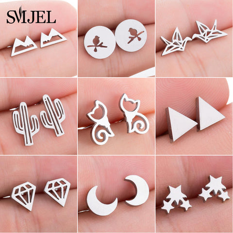 Cute Earrings Cat Moon Star Cute Accessories