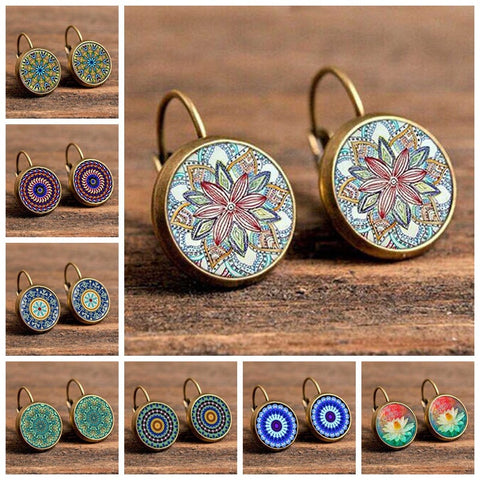 Boho Vintage Flower Earrings