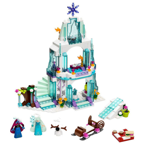 Princess Castle Building Block Bricks Mermaid Ariel Princess Elsa Anna Cinderella Belle - AVstuff